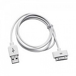 Gembird CC-USB-AP1MW Кабель USB AM/Apple для iPad/iPhone/iPod, 1м белый пакет
